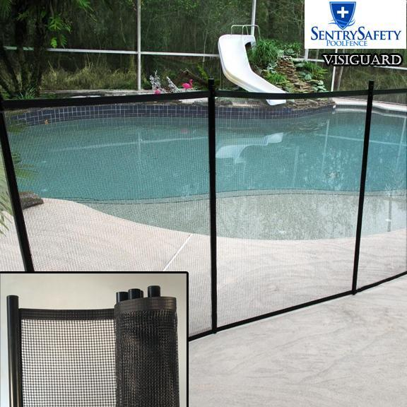 Pool Fence Easy Diy Installation Sentry Visiguard Mesh Fencing