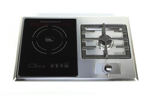 Built-in RV stove with Gas Burner and Induction Cooktop