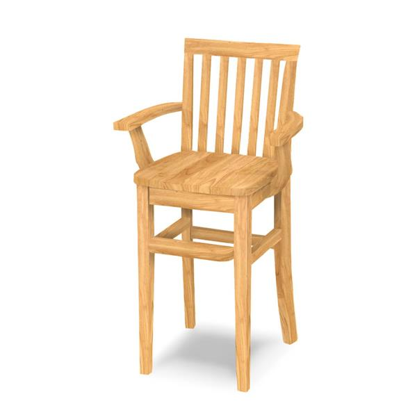 Rustic Style Mission Youth Chair (CC-265) - Clear Finished