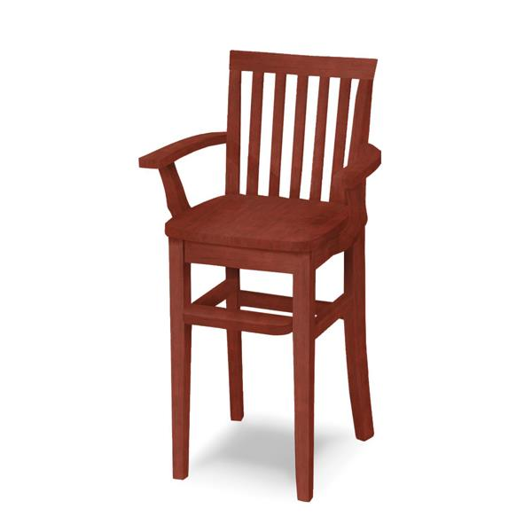 Rustic Style Mission Youth Chair (CC-265) - Rosewood Finished
