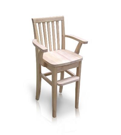 Rustic Style Mission Youth Chair (CC-265) - Unfinished