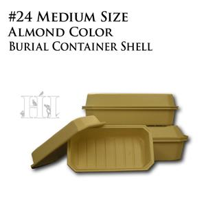 Almond 24  inch Pet Burial Container Shell