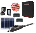LiftMaster LA412UL Single Swing Solar Gate Opener w/ 20w Solar Panel & MyQ Technology & Large Control Box