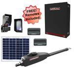 LiftMaster LA412UL Single Swing Solar Gate Opener w/ 20w Solar Panel & MyQ Technology & Large Control Box