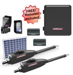 LiftMaster LA412UL-D Dual Swing Solar Gate Opener w/ 10w Solar Panel w/ MyQ Technology