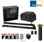 APOLLO 3501ETL Single Gate Opener (3500ETL) w/ DIY Gate Openers DIY Kit & extra remote